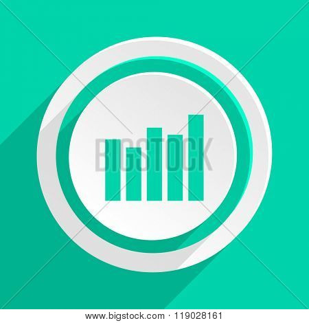 graph flat design modern web icon with shadow for internet and app