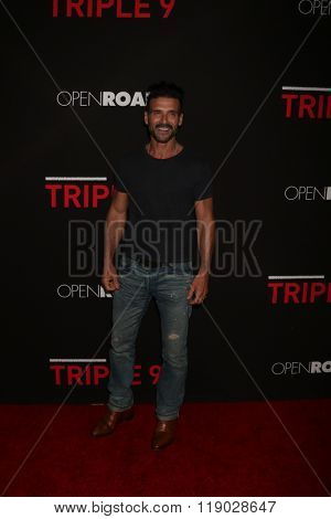 LOS ANGELES - FEB 16:  Frank Grillo at the Triple 9 Premiere at the Regal 14 Theaters on February 16, 2016 in Los Angeles, CA