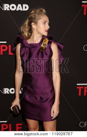 LOS ANGELES - FEB 16:  Teresa Palmer at the Triple 9 Premiere at the Regal 14 Theaters on February 16, 2016 in Los Angeles, CA