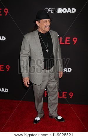 LOS ANGELES - FEB 16:  Danny Trejo at the Triple 9 Premiere at the Regal 14 Theaters on February 16, 2016 in Los Angeles, CA