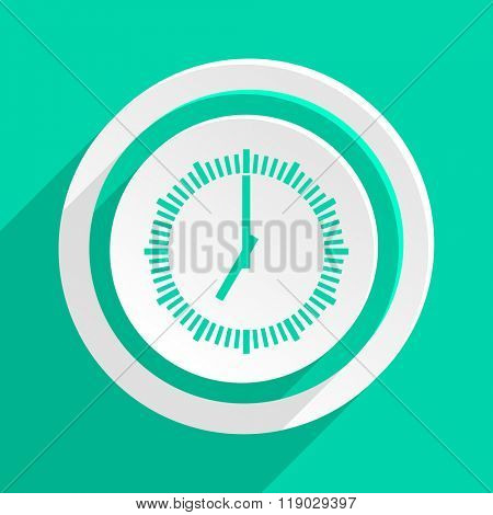 time flat design modern web icon with shadow for internet and app