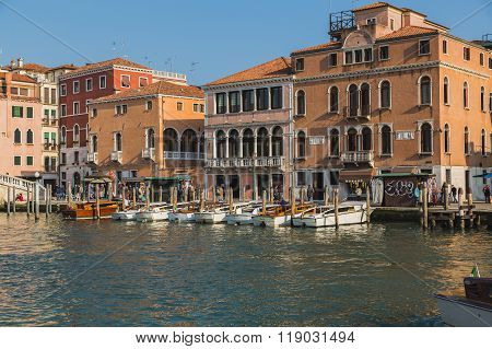 Buildings And Boats In Venice