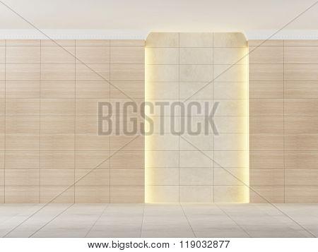 empty room with lighting
