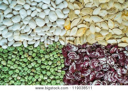 Assortment Of Different Kind Of Seeds