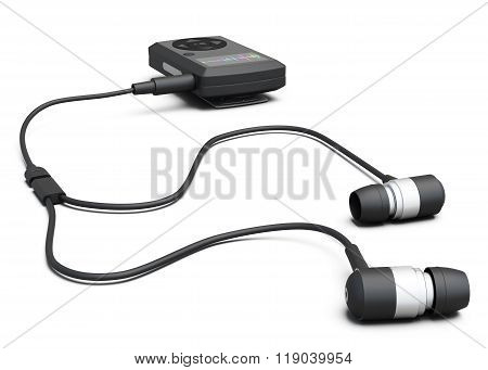 Mp3 Player Isolated On White Background. 3D Illustration