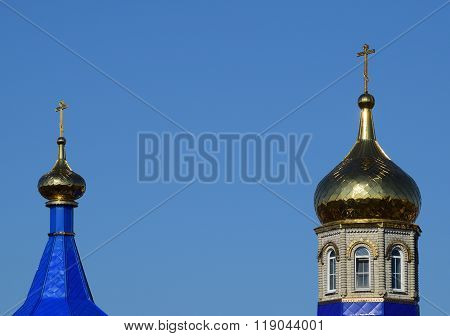 Domes Of An Orthodox Church
