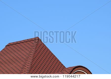 Decorative Metal Tile On A Roof