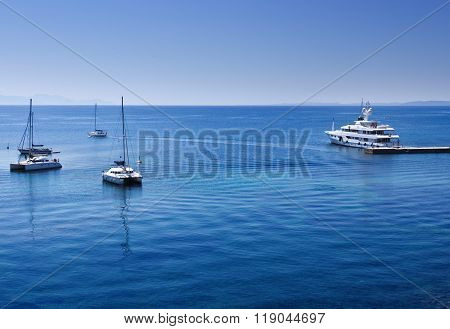 Harbor Detail In Corfu Town, Greece