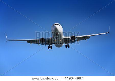 Aeroplane Approaching Airport
