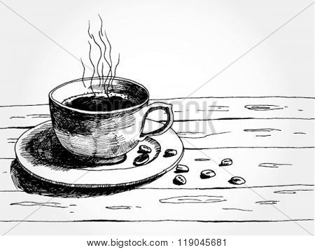 Illustration of Cup of Coffee