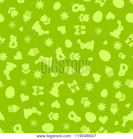 Easter Symbols. Seamles Background.