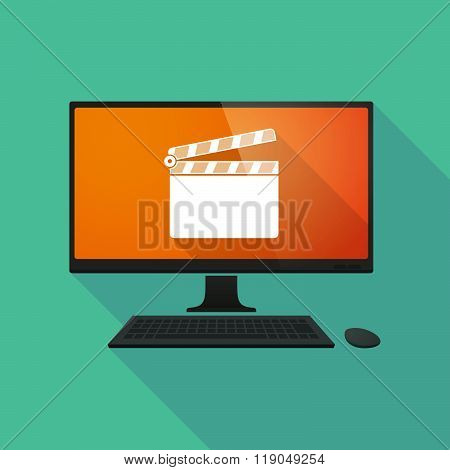 Personal Computer With A Clapperboard