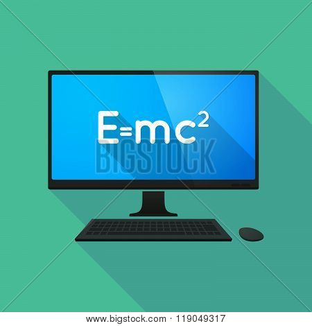 Personal Computer With The Theory Of Relativity Formula