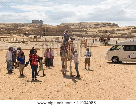 Tourists in Giza