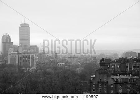 Boston On A Rainy Winters Day