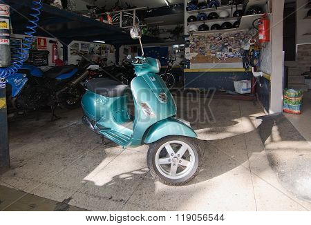 Turquoise Vespa For Rent