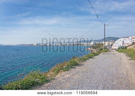 Gravel Seaside Road In Ibiza