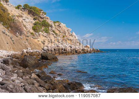 Black Sea shore wild landscape