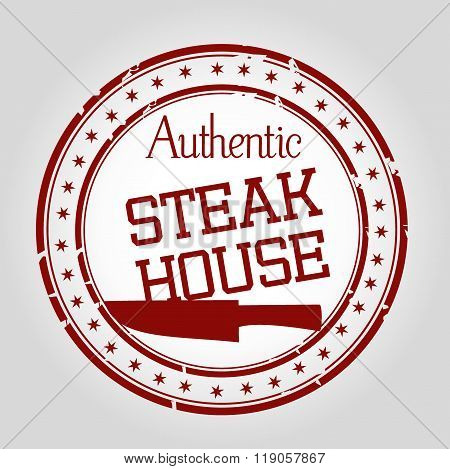 Authentic Steak house stamp