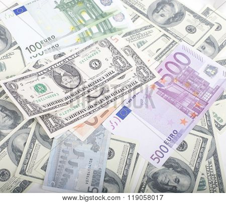 lot fo americans dollars cash background, diverse money worldwide