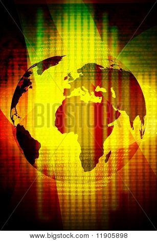abstract technology background of the world map