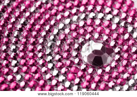 pink and silver texture with crystals
