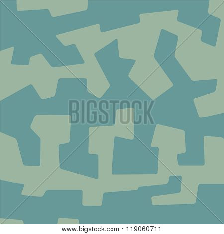 Abstract Geometric Corner Angular Rounded Military Camouflage Background Texture