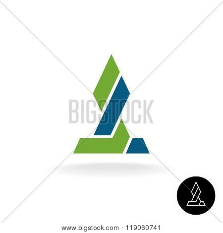 Financial Logo Concept. Force Link Connection Monumental Sign. Power Of Two Sides. Synergy Symbol. A
