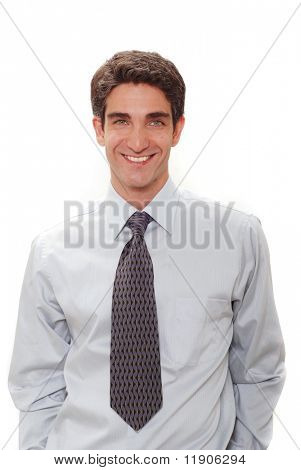 Young businessman with shirt and tie