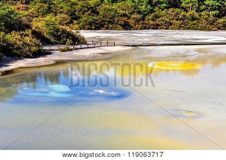 The Artist's Palette In The Wai-o-tapu Geothermal Area, Near Rotorua, New Zealand