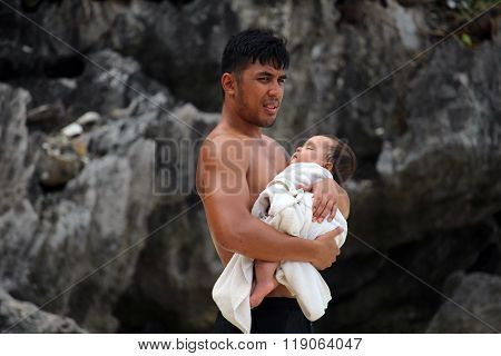 Father and child Philippines