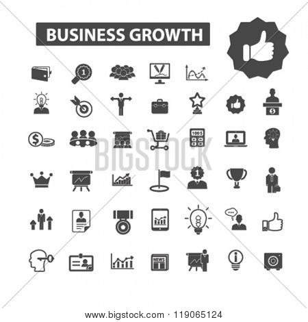 business growth icons, business growth logo, chart icons vector, chart flat illustration concept, chart infographics elements isolated on white background, chart logo, chart symbols set, graph