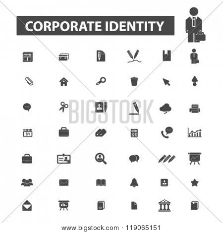 corporate identity icons, corporate identity logo, corporative icons vector, corporative flat illustration concept, corporative logo, corporative symbols set, company, business organization, identity