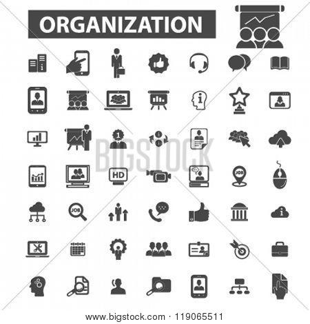 management icons, management logo, organization icons vector, organization flat illustration concept, organization logo, organization symbols set, system, manager, group