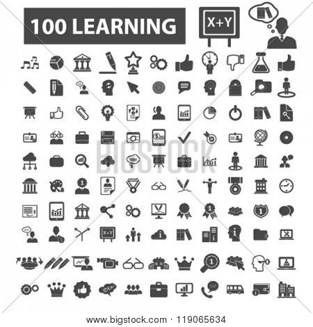 education icons, education logo, learning icons vector, learning flat illustration concept, learning infographics elements isolated on white background, learning logo, learning symbols set,