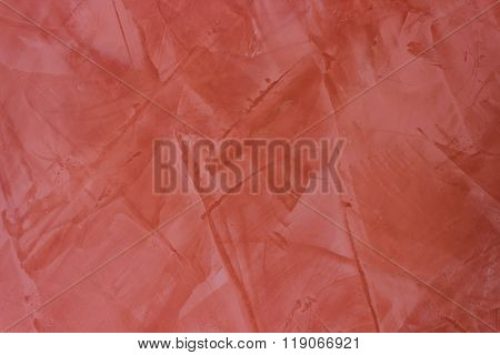 Wall texture red stucco Paint background.
