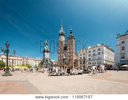 St. Mary's Basilica, Kraków, Poland, Europe.