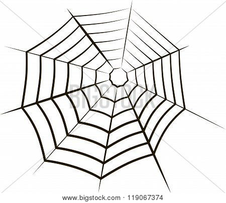 The spiderweb icon. Web symbol.