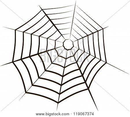 The spiderweb icon. Web symbol.