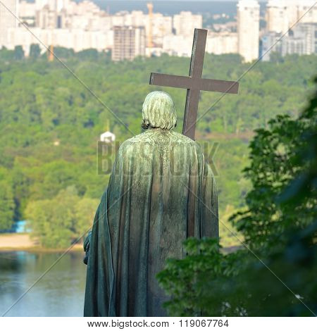 Monument To Vladimir Veliky In Kiev