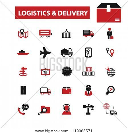 logistics icons, logistics concept, delivery icon, logistics logo, shipping vector