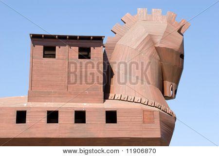 Berühmte Trojanische Pferd im antiken Troja