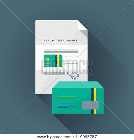 Colorful Conditional Card Access Set Illustration.