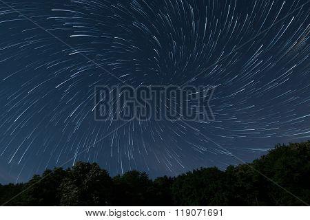 Beautiful night sky Beautiful stars vortex Stars game, Stars play Deep forest night sky