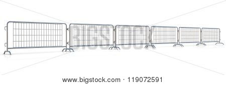 Steel barricades row
