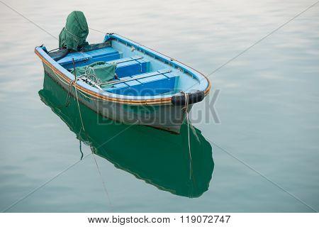 Small Fishing  Boats Anchored