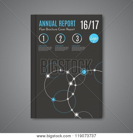Science Design Vector Template Layout For Magazine Brochure Flyer Booklet Cover Annual Report