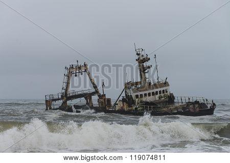 Shipwreck At The Skelleton Coast (namibia)