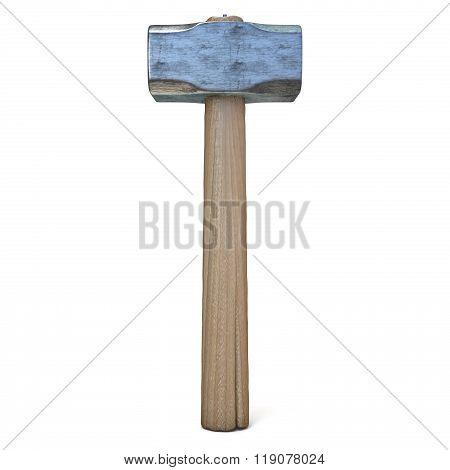 Metal sledge hammer standing. 3D