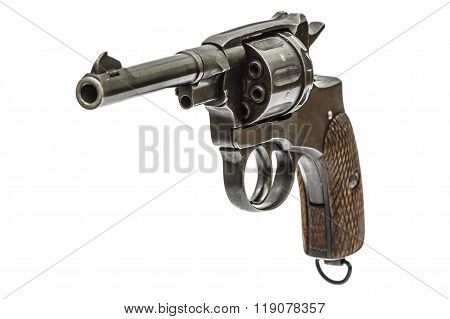 Old Pistol, Isolated On White Background
